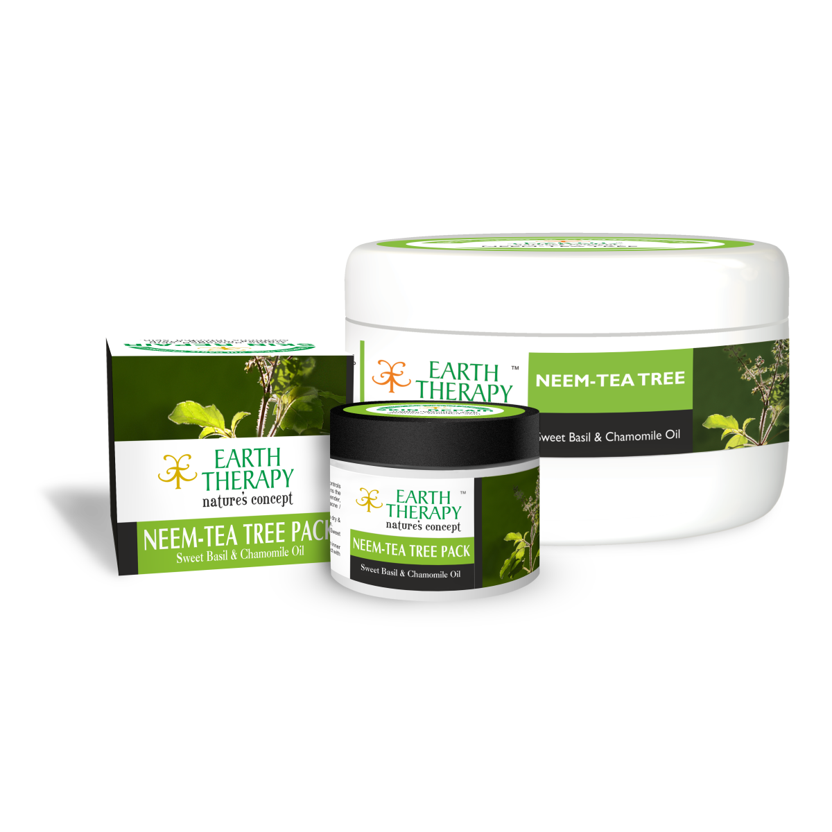 Neem Tea Tree Pack Earth Therapy Acnes Oil Clay Mask 50g 75g 500g